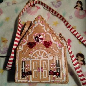 Betsey Johnson Tan Gingerbread House Crossbody NWT